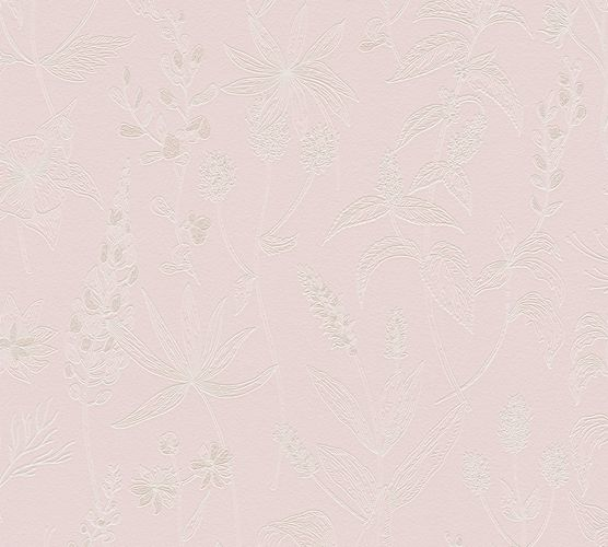 Non-Woven Wallpaper Jette Joop Leaves pink white 37363-3 online kaufen
