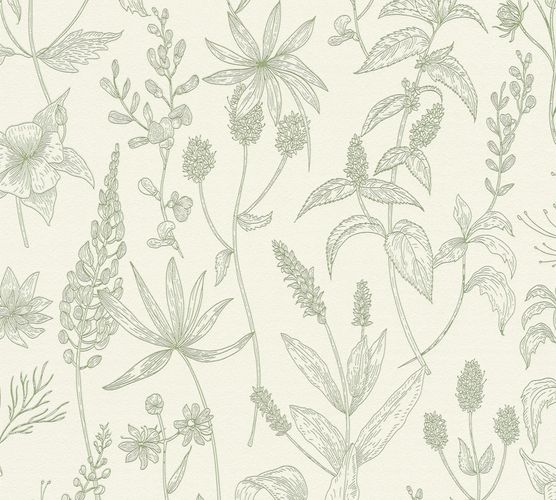 Non-Woven Wallpaper Jette Leaves white green 37363-5 online kaufen