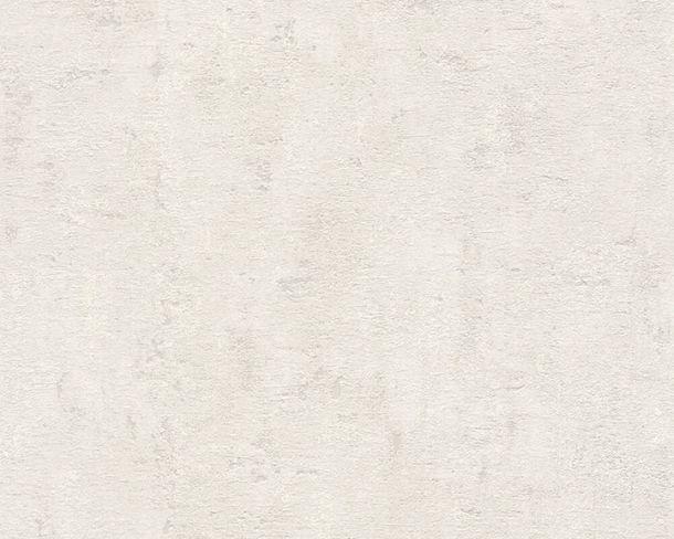 Non-Woven Wallpaper Plaster Look white grey Gloss 2307-51