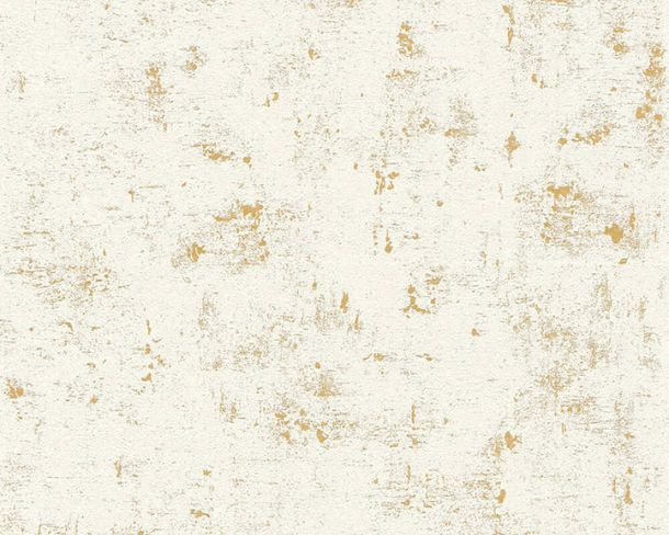 Non-Woven Wallpaper Plaster Look grey white Gloss 2307-75