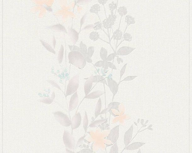 Non-Woven Wallpaper Floral Flowers white grey 37266-3 online kaufen