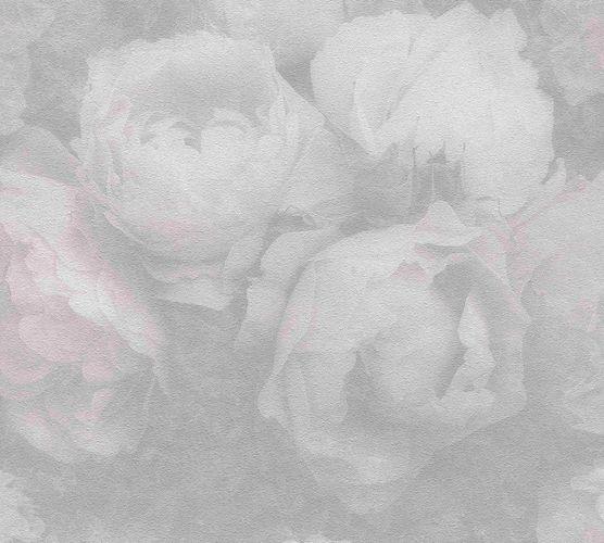 Non-woven wallpaper blossoms grey white purple 37392-3 online kaufen