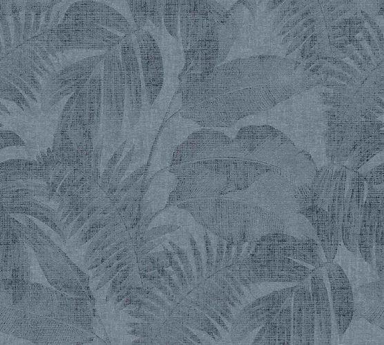 Non-woven wallpaper leaves blue black 37396-5 online kaufen