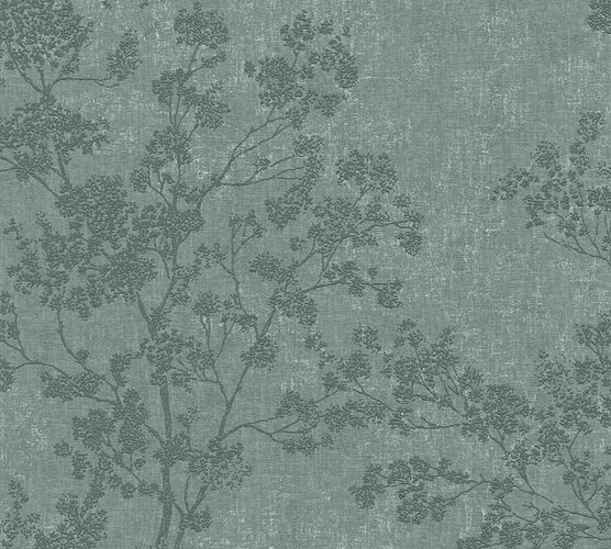 Non-woven wallpaper blossom twigs green cream 37397-3 online kaufen