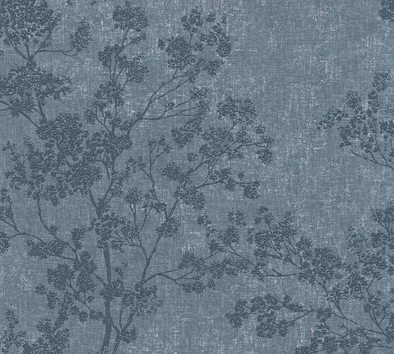 Non-woven wallpaper blossom twigs blue cream 37397-4 online kaufen