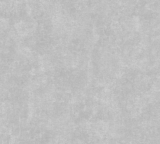 Non-woven wallpaper plain structure grey 37418-2