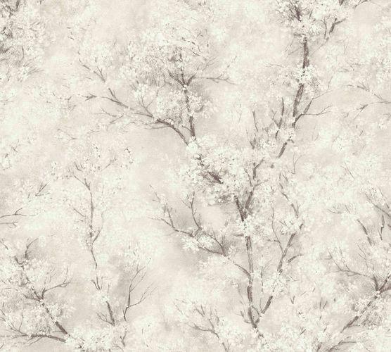 Non-woven wallpaper blossom tendrils cream white 37420-2 online kaufen