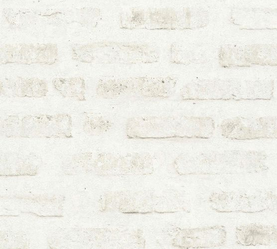 Non-woven wallpaper stone wall creamgrey 37422-2 online kaufen