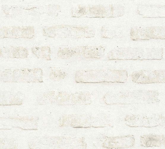 Non-woven wallpaper stone wall creamgrey 37422-2 online kaufen