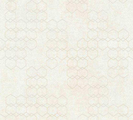 Non-woven wallpaper graphic cream grey white 37424-1