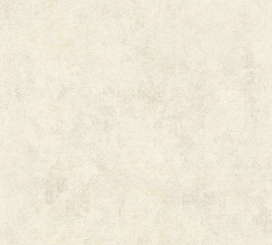 Non-woven wallpaper plain with structure creambeige 37425-2