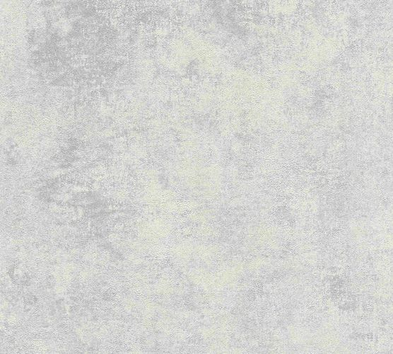 Non-woven wallpaper plain with structure creamgrey 37425-4