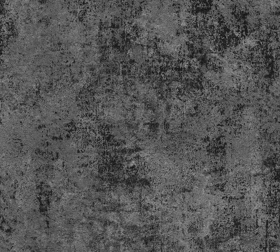 Non-woven wallpaper plain with structure anthracite 37425-6 online kaufen
