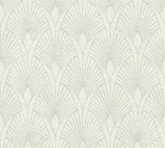 Non-woven wallpaper art deco greywhite silver 37427-1 online kaufen