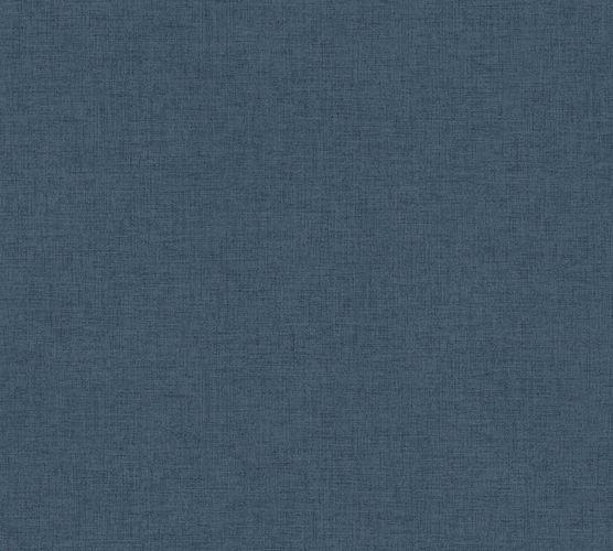 Non-woven wallpaper mottled plain blue 37431-5
