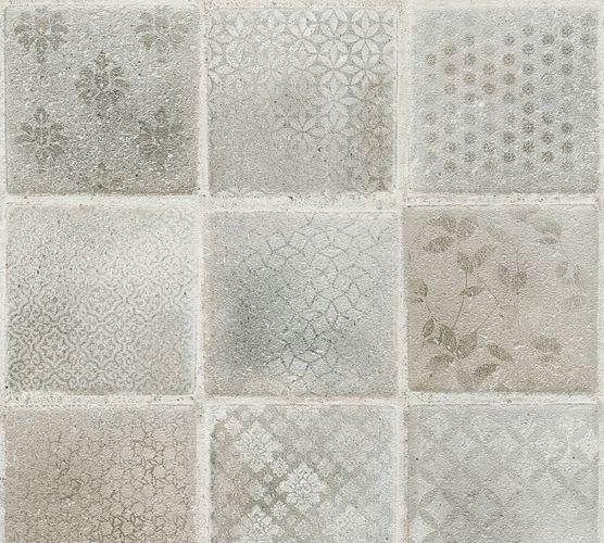 Neue Bude Vliestapete Fliesen grau weiß 37388-3 online kaufen