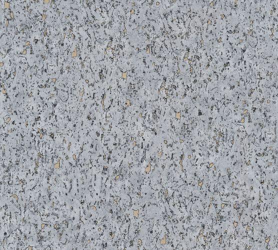Non-woven wallpaper cork optics grey 37389-6