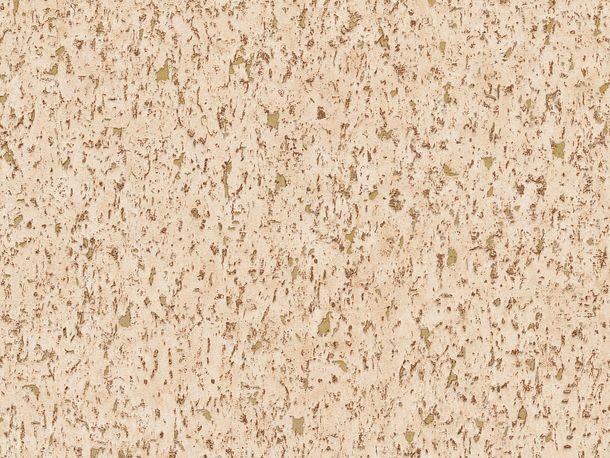 Non-woven wallpaper cork optics terracotta 37389-8