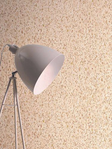 Non-woven wallpaper cork optics terracotta 37389-8 online kaufen