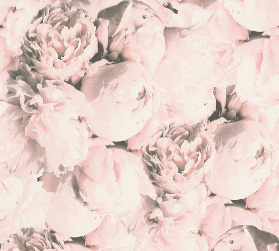 Non-woven wallpaper rose flower light pink 37398-2