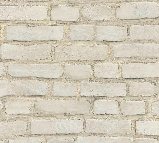 Non-woven wallpaper stone optic beige grey 37414-1 online kaufen