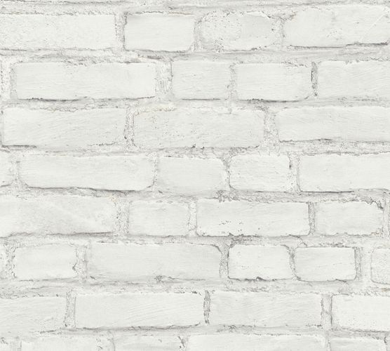Non-woven wallpaper stone optic grey 37414-2