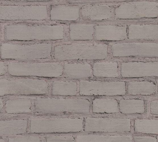 Non-woven wallpaper stone optic dark grey 37414-3 online kaufen