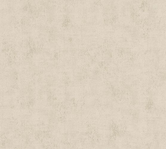 Non-woven wallpaper structured plain dark beige 37416-5