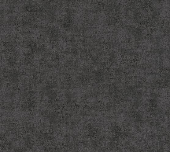 Non-woven wallpaper plain structured black 37417-1 online kaufen