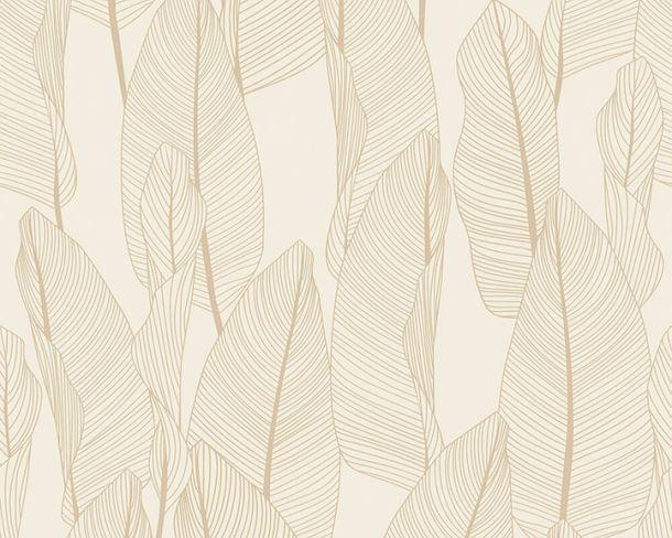 Vliestapete Blätter Floral creme beige 36497-7 online kaufen