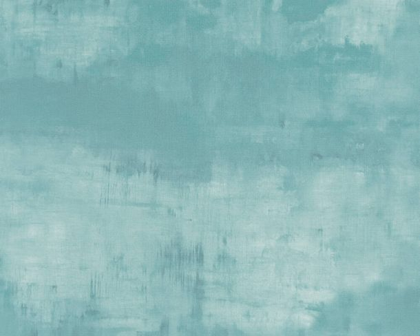 Non-woven wallpaper watercolour plain blue grey 37278-4