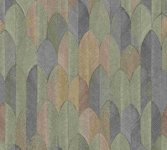Non-woven wallpaper feather beige grey gold 37373-5 online kaufen