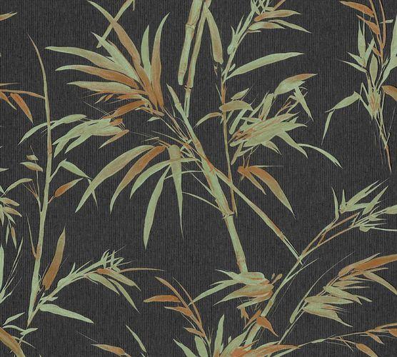 Non-woven wallpaper bamboo black green rot 37376-3 online kaufen