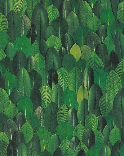 Non-woven Wallpaper Leaves Floral green 31735