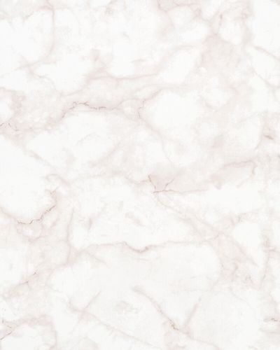 Non-woven Wallpaper Marble Look white pink 31738