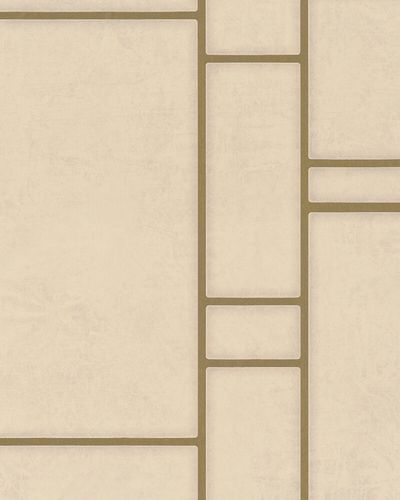 Non-woven Wallpaper Tiles grey beige Metallic 31748