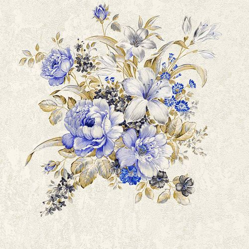 Non-woven wallpaper flower bouquet cream brown 37225-2 online kaufen