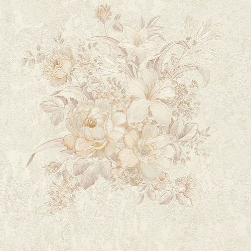 Non-woven wallpaper flower bouquet cream taupe 37225-4 online kaufen