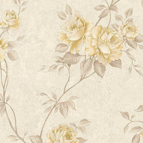 Non-woven wallpaper rosebuds cream taupe beige 37226-2 online kaufen