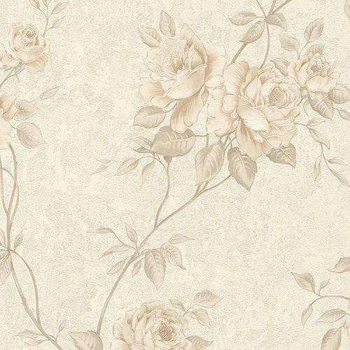 Non-woven wallpaper rosebuds cream taupe 37226-3 online kaufen