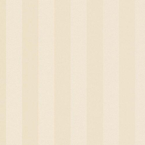 Non-woven wallpaper striped plain ivory glitter 37227-3 online kaufen
