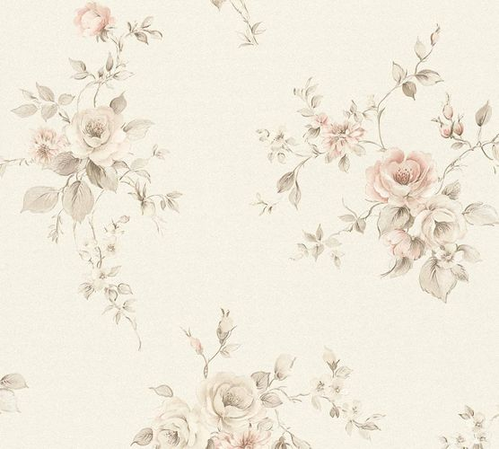 Non-woven wallpaper rose petals cream grey rose 3723-14 online kaufen