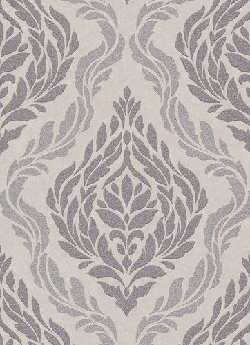 Baroque ornaments non-woven wallpaper taupe grey 10060-02 online kaufen