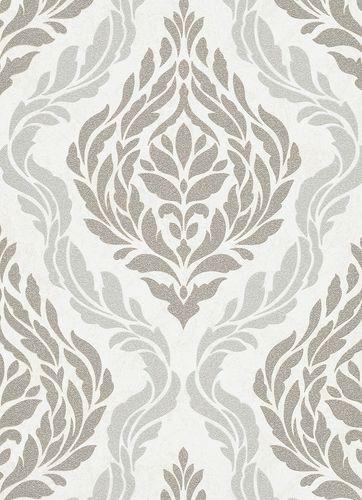 Barock Ornamente Vliestapete creme grau silber 10060-14 online kaufen