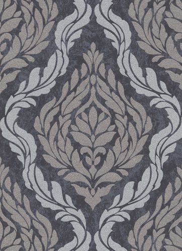 Baroque ornaments non-woven wallpaper anthracite 10060-37