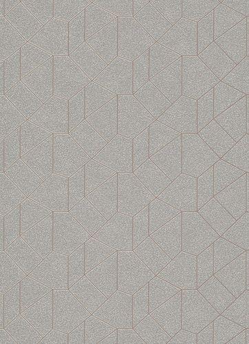 Grafik-Design Vliestapete grau beige Glanz 10062-02 online kaufen