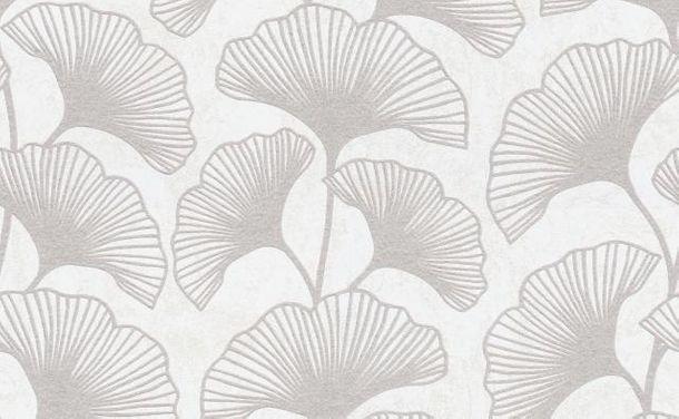 Leaves non-woven wallpaper cream taupe glitter 10064-14 online kaufen