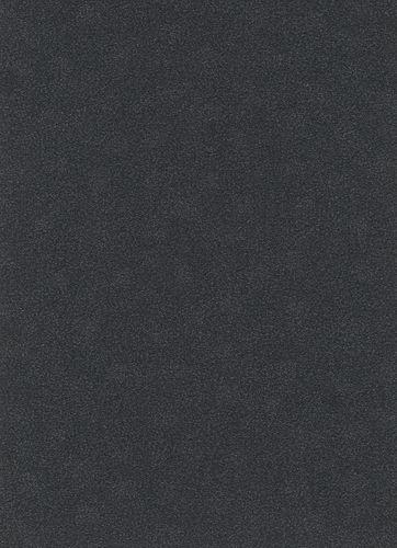 Plain structure non-woven wallpaper anthracite 10079-15