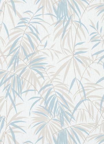 Wallpaper fern white beige blau 10067-18 online kaufen