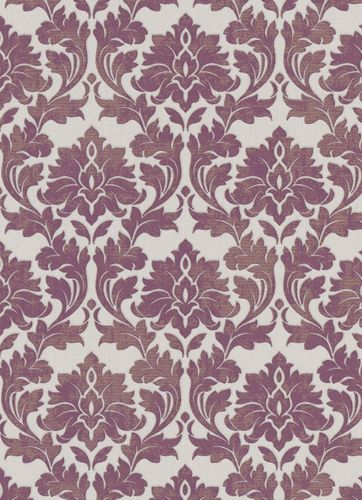 Wallpaper baroque white purple gold glitter 10070-09 online kaufen